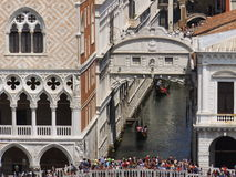Pont des soupirs Venise, vue étroite Photo libre de droits