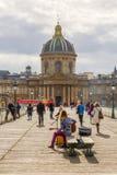Pont des sztuki w Paryż, Francja Zdjęcia Royalty Free