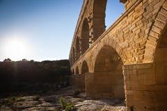 Pont du加尔省,朗戈多克-鲁西荣 图库摄影