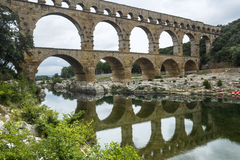 Pont du加尔省 图库摄影