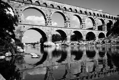 Pont du加尔省 库存图片