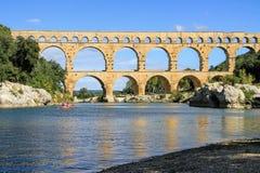 Pont du Гар, к югу от Франции Стоковые Изображения RF