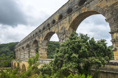 Pont du Гар стоковое фото rf