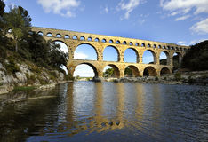 pont du Франции gard aquaduct римское Стоковое Фото