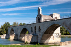 Pont du Avignon side view Stock Image