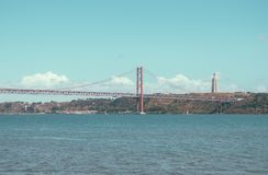 Pont du 25 avril Image libre de droits