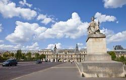 Pont du Carrousel à Paris Images libres de droits