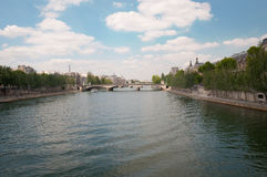 Pont du Carrousel - a bridge over the Seine in Paris, with the p Royalty Free Stock Image