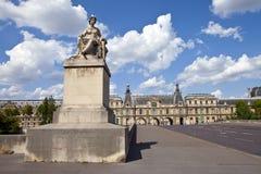 Pont du Carrousel en París Fotografía de archivo