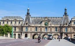Pont Du Carrousel i tunelu wejście Umieszczać Du Carrousel Obrazy Stock