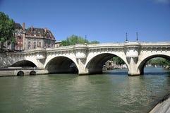 Pont du Carrousel in Parijs Frankrijk Stock Fotografie