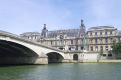 Pont du Carrousel in Paris stock image