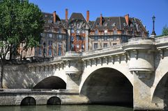 Pont du Carrousel in paris france Royalty Free Stock Image
