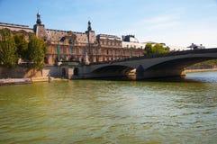 Pont du Carrousel in Paris Stock Photo