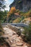Pont du Diable ή η γέφυρα διαβόλων είναι μια ρωμαϊκή γέφυρα που εκτείνεται Στοκ Εικόνα