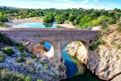 Pont du Diable, Франция Стоковое фото RF