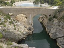 Pont du diable, a bridge in herault, languedoc, france. Pont du diable, a bridge in herault, a department of the region Languedoc, france royalty free stock photography