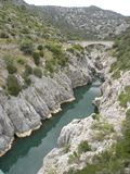 Pont du diable, a bridge in herault, languedoc, france. Pont du diable, a bridge in herault, a department of the region Languedoc, france royalty free stock photo
