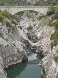Pont du diable, a bridge in herault, languedoc, france. Pont du diable, a bridge in herault, a department of the region Languedoc, france stock photos