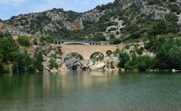 Pont Du Diable [Duivelsbrug] Herault Frankrijk Stock Afbeeldingen