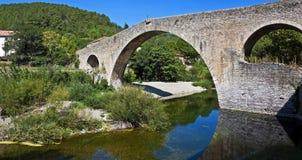 Pont du Diable, Olargues, Франция Стоковое Изображение RF