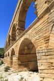 Pont du Gard,尼姆,普罗旺斯,法国 免版税库存图片