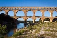 Pont du Gard,朗戈多克-鲁西荣 库存图片