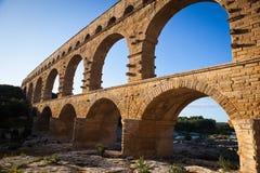 Pont du Gard,朗戈多克-鲁西荣 免版税库存照片