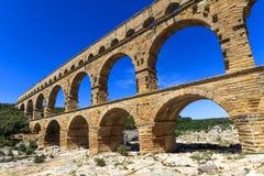 Pont du Gard, Nimes, Provence, Frankrike Arkivbilder