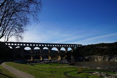 Pont-du-Gard - παγκόσμια κληρονομιά της ΟΥΝΕΣΚΟ Στοκ φωτογραφία με δικαίωμα ελεύθερης χρήσης