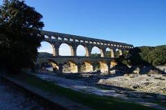 Pont-du-Gard - παγκόσμια κληρονομιά της ΟΥΝΕΣΚΟ Στοκ Εικόνες
