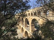 pont du gard стоковое изображение
