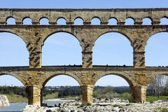 Pont du Gard‎ Royalty Free Stock Photos