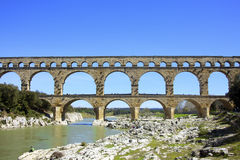 Pont du Gard‎ Royalty Free Stock Photography