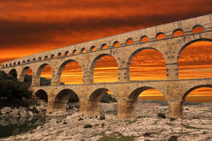 Pont du Gard. Picture of the Pont du Gard in Languedoc Roussillon, France Stock Image
