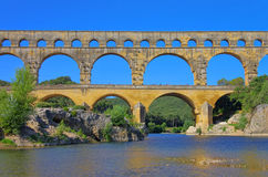 Pont du Gard. Roman aqueduct Royalty Free Stock Photos