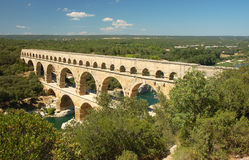 Pont du Gard. Roman Aqueduct in the South of France Stock Images