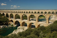 Pont du Gard. Roman Aqueduct in the South of France Stock Photos