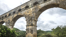 Pont du Gard royaltyfria bilder