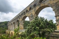 Pont du Gard royaltyfri foto