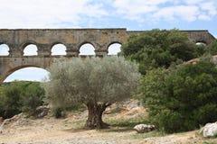 Pont-du-Gard Στοκ φωτογραφία με δικαίωμα ελεύθερης χρήσης