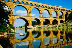 Pont du Gard Arkivfoton