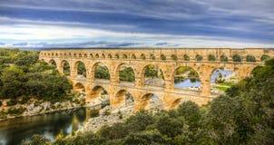 Pont Du Gard Arkivfoto