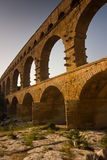 Pont du Gard. The ancient roman aqueduct Pont du Gard in Provence Royalty Free Stock Photos