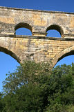 Pont du Gard - ancient Roman bridge Royalty Free Stock Images