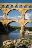 Pont du Gard, ancient roman's bridge in Provence, France Royalty Free Stock Photography