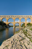 Pont du Gard, ancient roman's bridge in Provence, France Royalty Free Stock Image