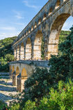 Pont du Gard, ancient roman's bridge in Provence, France Royalty Free Stock Photos