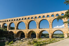 Pont du Gard, ancient roman's bridge in Provence, France Stock Image
