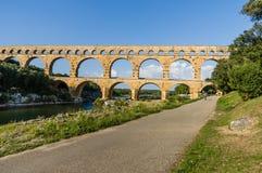 Pont du Gard, ancient roman's bridge in Provence, France Royalty Free Stock Image
